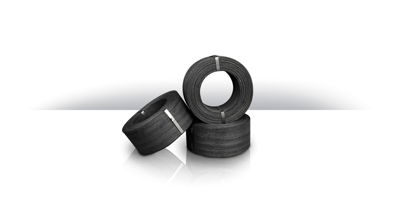 Black annealed wire spools