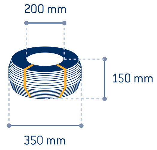 Product measurements Black annealed wire spools