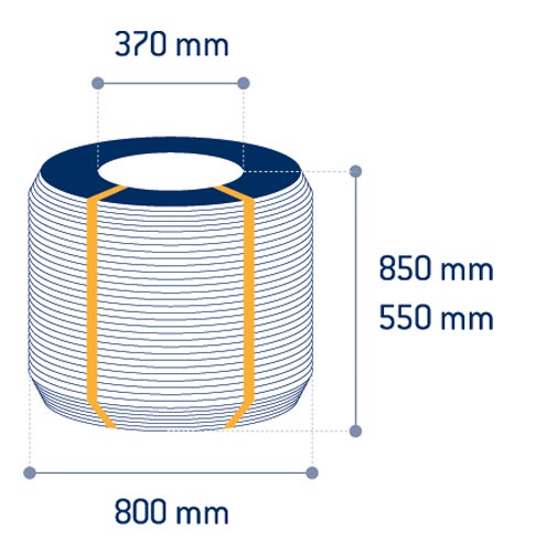 Product measurements Black annealed wire coils